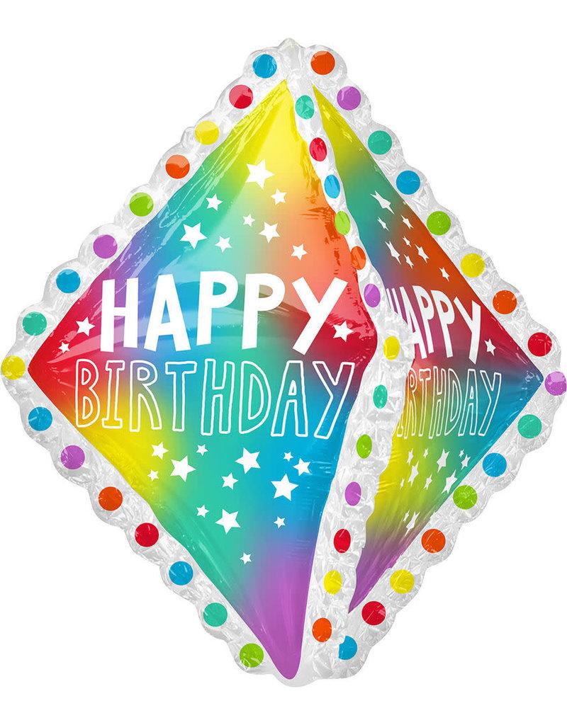 """***Happy Birthday Ruffle Jumbo 27"""" Foil Balloon"""