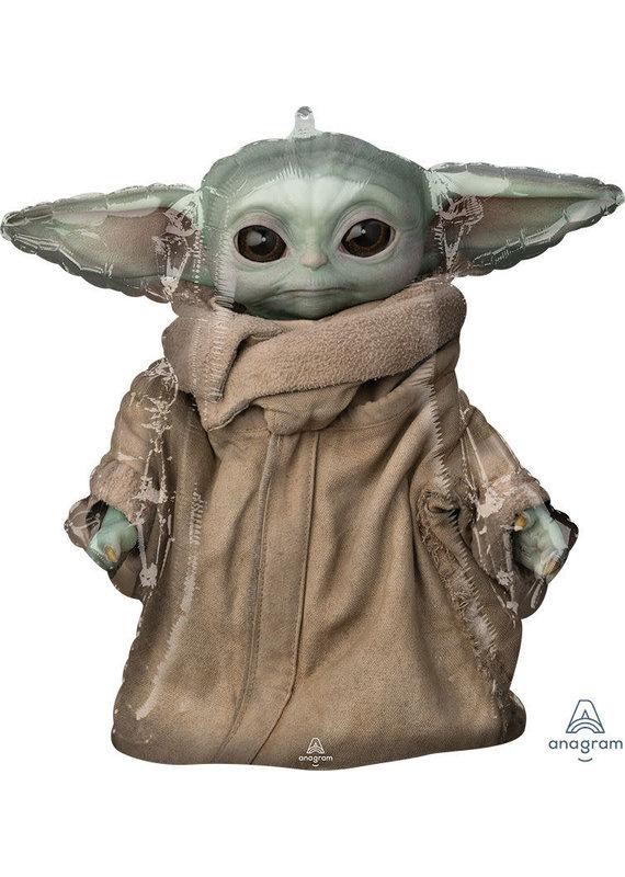 "****The Mandalorian The Child Baby Yoda Jumbo 26"" Mylar Balloon"