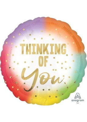 "***Pastel Metallic Thinking of You 18"" Mylar Balloon"