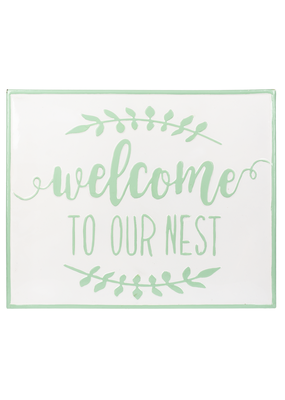 """Welcome to Our Nest"" Wall Decor"