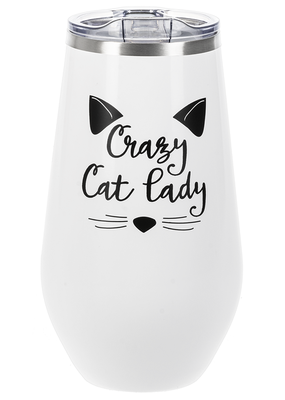***Crazy Cat Lady Wine Cup
