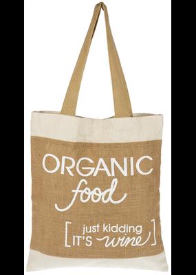 ***Organic Food, just kidding it's Wine Tote Bag