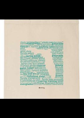 North American Art/Artistic Reflections ***Florida Teal Canvas Tote Bag