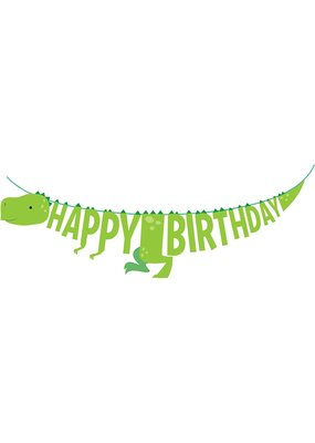***Dinosaur Birthday Ribbon Banner 5.5ft