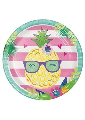 "***Pineapple Friends 9"" Dinner Plates 8ct"