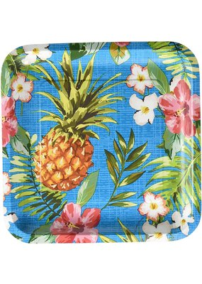 "***Aloha 9"" Square Dinner Plates 8ct"