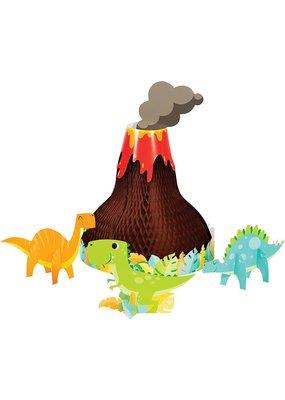 ***Dinosaur Volcano Honeycomb Centerpiece