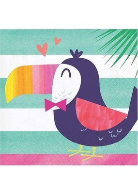 ***Pineapple & Friends Toucan Beverage Napkins 16ct