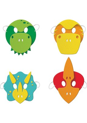 ***Dino Party Foam Masks