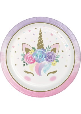 ***Unicorn Baby Sparkle 9in Plate