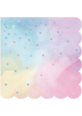 ***Pastel Iridescent Scalloped Napkins