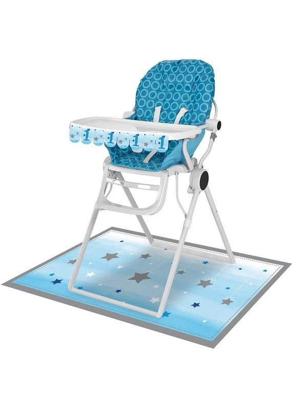 ***Blue1st Birthday High Chair Kit