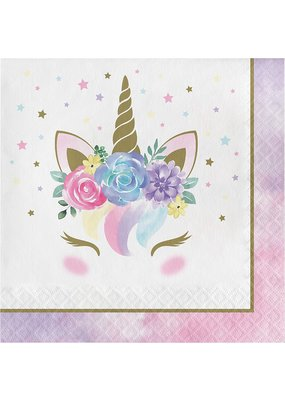 ****Unicorn Baby Sparkle Lunch Napkins