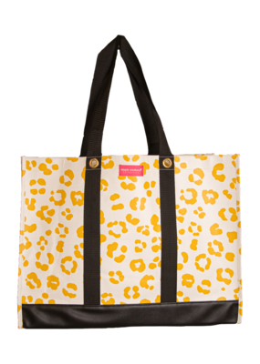 ***Simply Southern Large Plastic Cheetah Tote