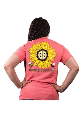 ***Simply Southern Short Sleeve Sunflower Coral