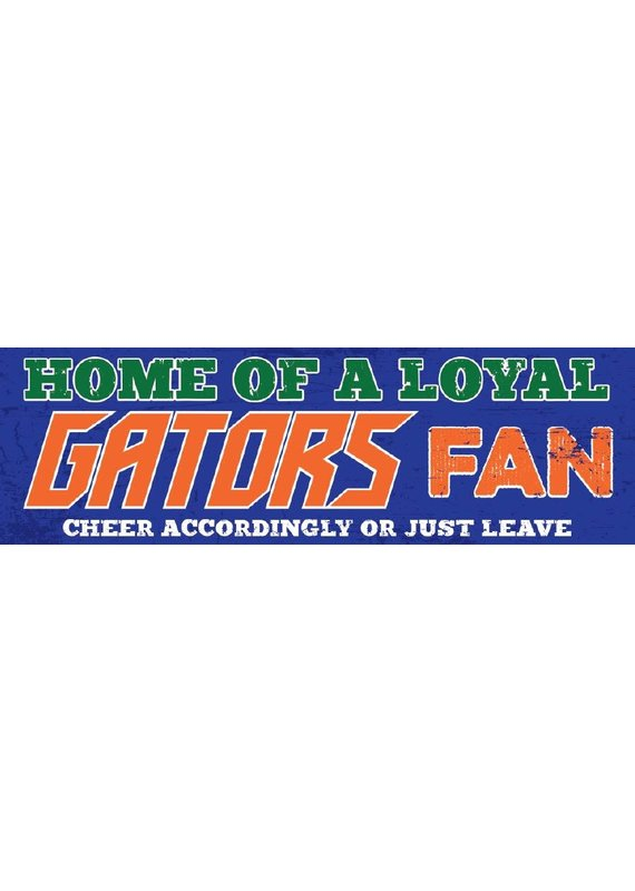 North American Art/Artistic Reflections ***Florida Gators Loyal Fan Wood Sign