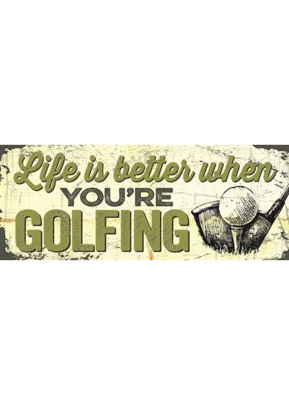 North American Art/Artistic Reflections ***Life is Better When Golfing Wood Sign