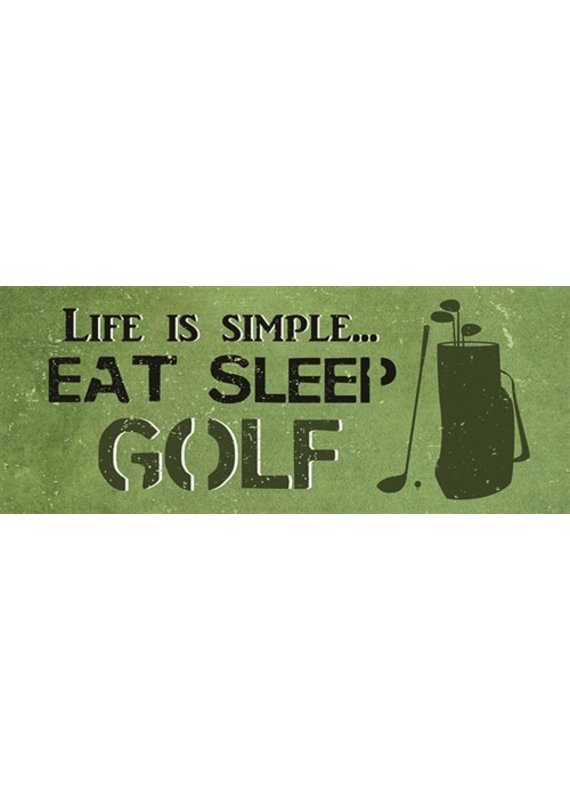 North American Art/Artistic Reflections ***Life is Simple Eat, Sleep and Golf Wood Sign