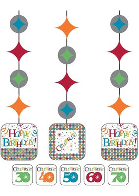 ***Celebrate in Style Printed Hanging Cutouts