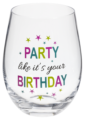 ***Party like it's your Birthday Wine Glass
