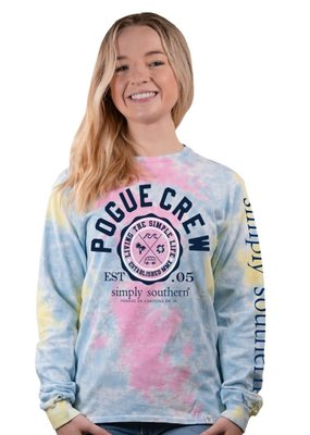 ***Simply Southern Long Sleeve Pogue Crew Skittles