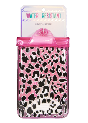 ***Simply Southern Water Resistant Pouch Pink Leopard