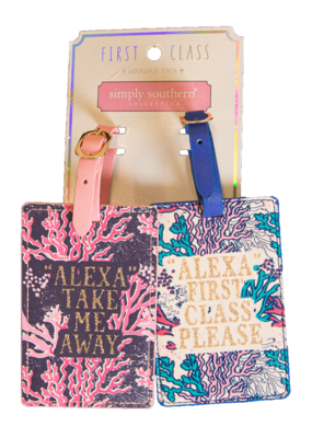***Simply Southern Reef Luggage Tags