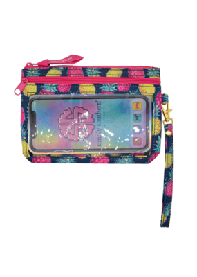 ***Simply Southern Phone Pineapple Wristlet