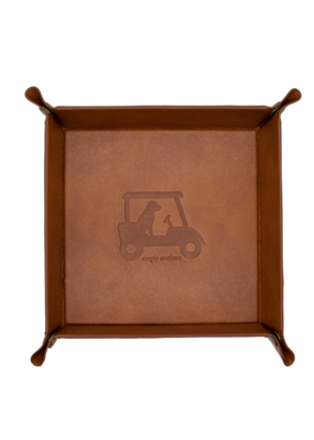 ***Simply Southern Guy's Leather Golf Tray
