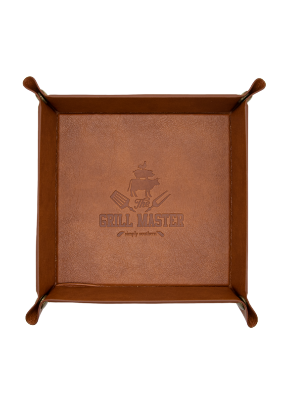 ***Simply Southern Guy's Leather Grill Master Tray