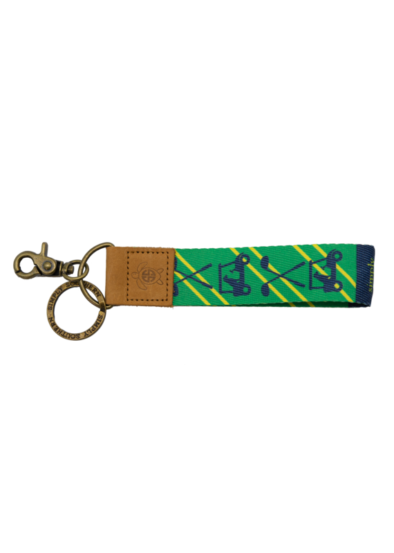 ***Simply Southern Fabric Key Chain Golf