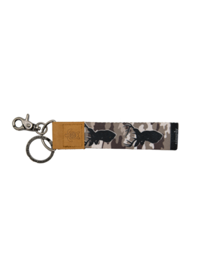 ***Simply Southern Fabric Key Chain Deer