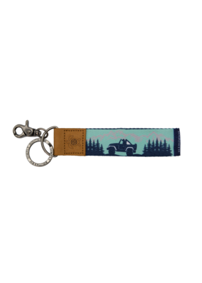 ***Simply Southern Fabric Key Chain Mountain Jeep