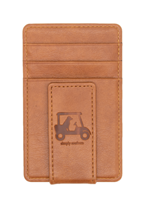 ***Simply Southern Guy's Leather Money Clip Golf