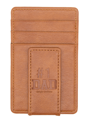 ***Simply Southern Guy's Leather Money Clip Dad