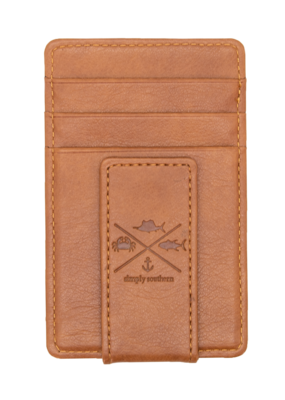 ***Simply Southern Guy's Leather Money Clip Fish