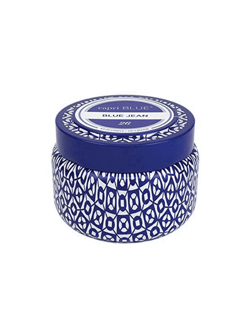 Capri Blue ***Blue Jean Capri Blue Printed 3oz Jar Candle