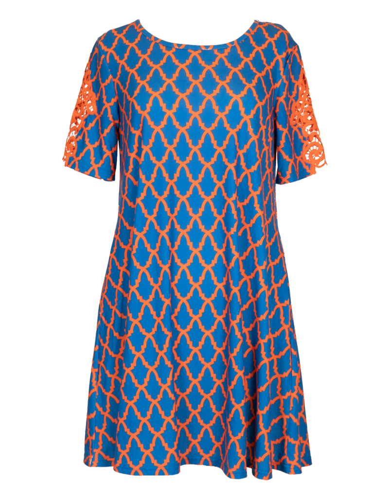***Simply Southern Blue & Orange Tailgate Dress