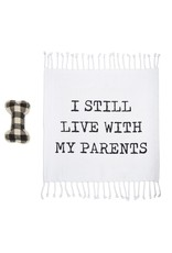 ***I Still Live with My Parents Dog Toy & Blanket