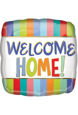 """***Welcome Home Stripes 17"""" Mylar Balloon"""
