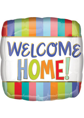 "***Welcome Home Stripes 17"" Mylar Balloon"