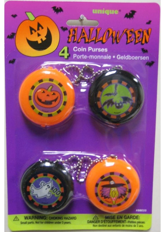 *****Halloween Coin Purses 4ct