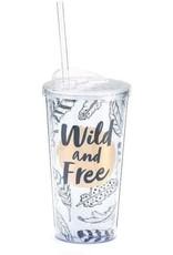 ***Wild and Free Plastic Tumbler