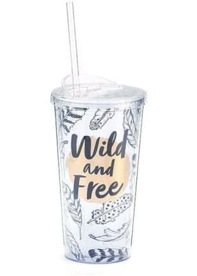 ***Wild and Free Plastic Tumbler