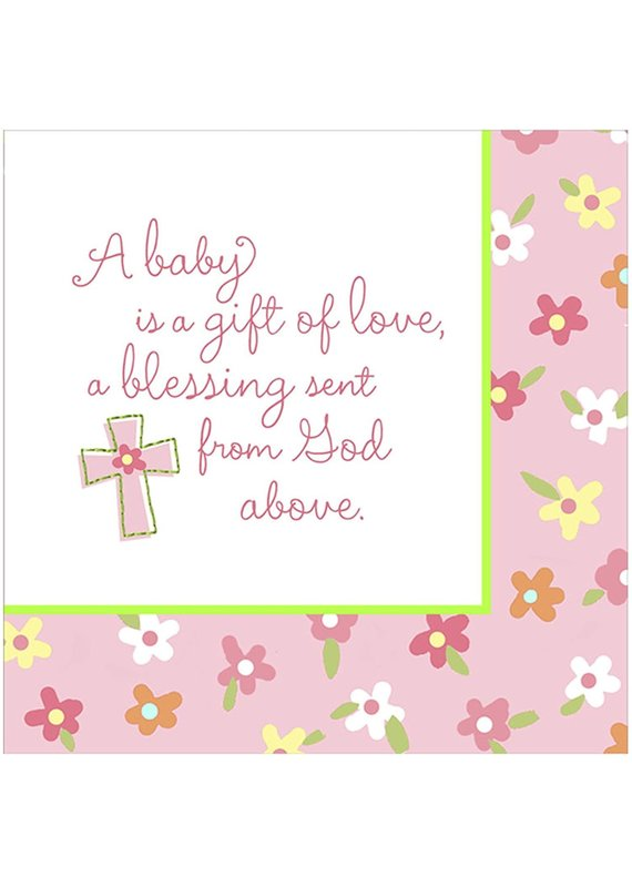 ****Blessed Baby Girl Lunch Napkins 16ct