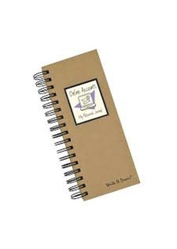Journal Unlimited ****Online Accounts Password Mini Book