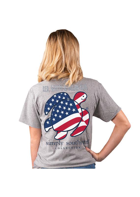 ****Short Sleeve Save Flag Gray
