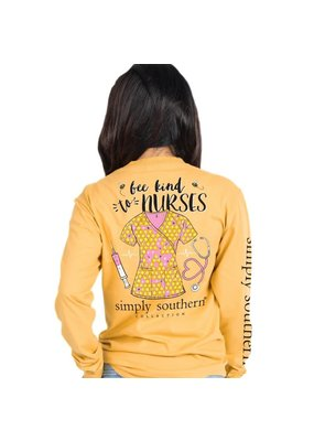 ***Simply Southern Long Sleeve Nurse Mustard