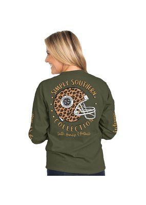 ***Simply Southern Long Sleeve Football Moss