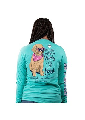 ***Simply Southern Long Sleeve Paw Prints Aruba